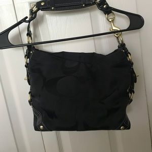 Coach Handbag with gold accents